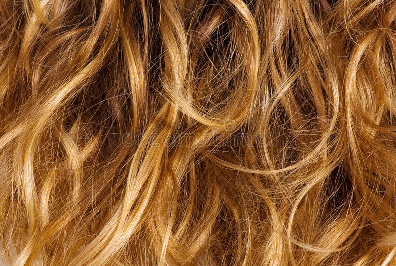 Blonde curly hair - background royalty free stock images