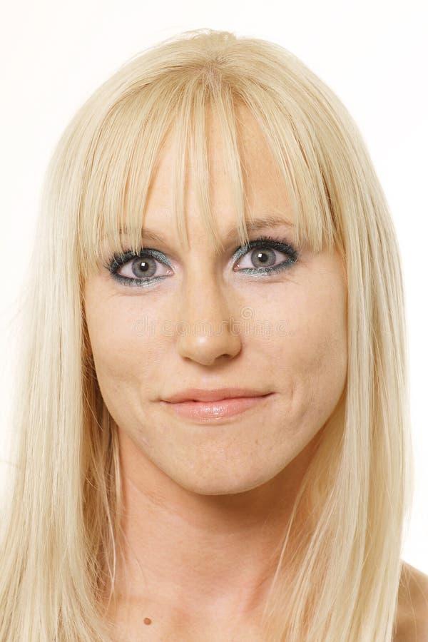 Blonde da face cheia fotografia de stock