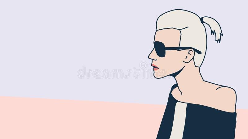 Blonde da forma minimalism estilo do pop art ilustração royalty free