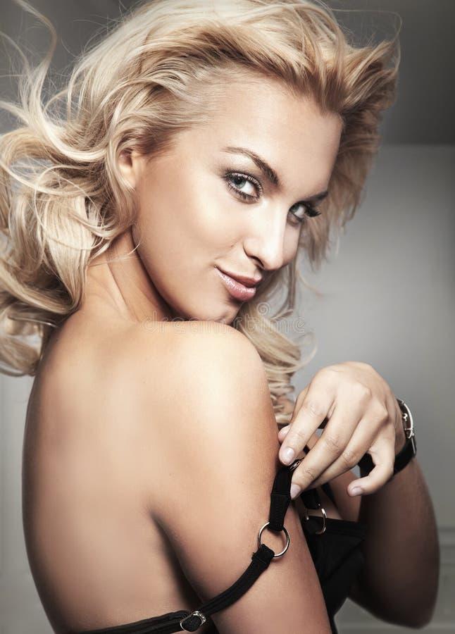 Blonde dame royalty-vrije stock foto's