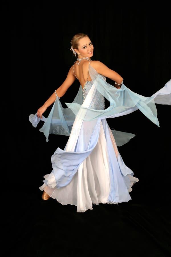Blonde in dance stock image