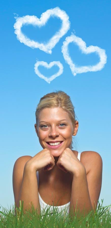 Blonde dans l'amour photographie stock libre de droits