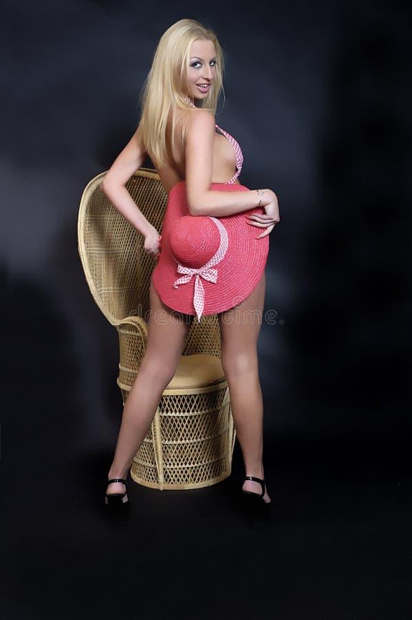 Blonde dans le bikini photos libres de droits