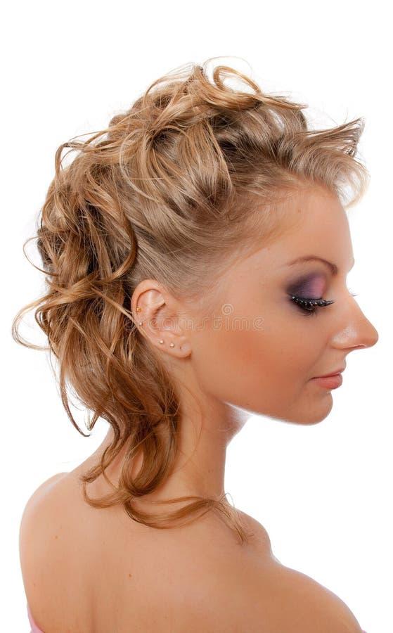 Blonde das pestanas de Strassed isolado fotografia de stock royalty free