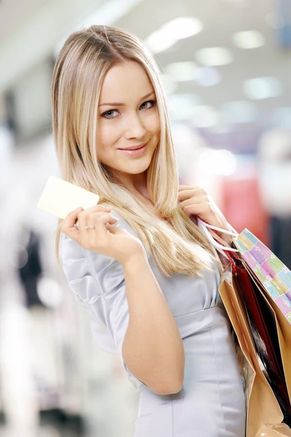 Blonde de achat photo libre de droits