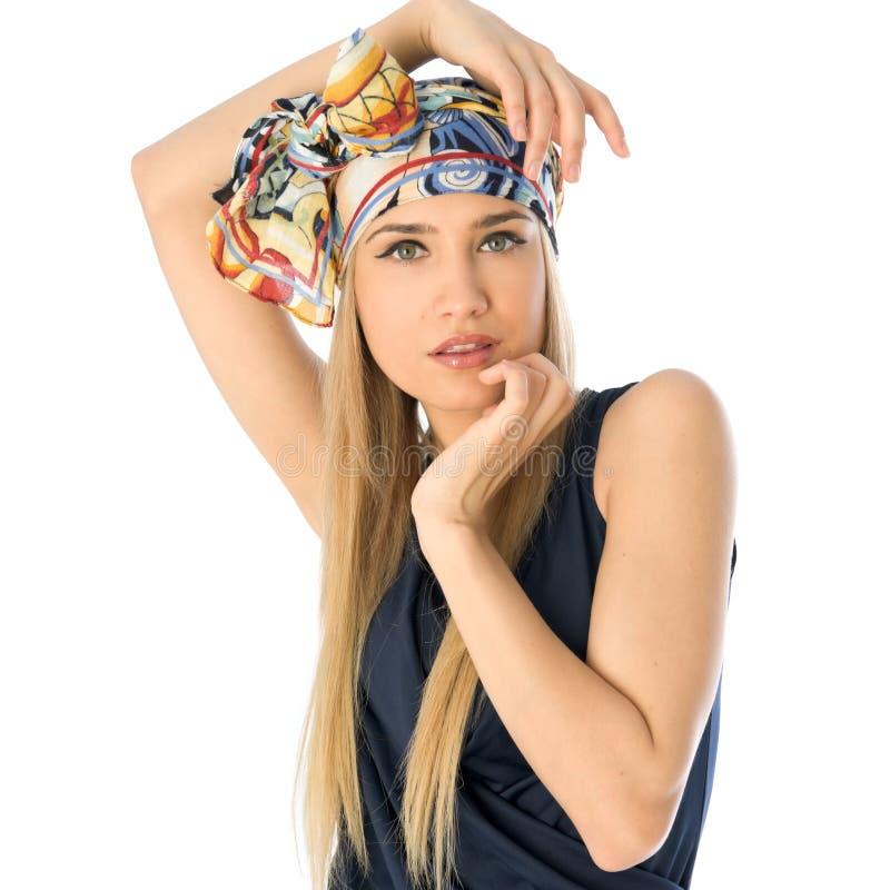 Blonde de moda hermoso fotografía de archivo libre de regalías