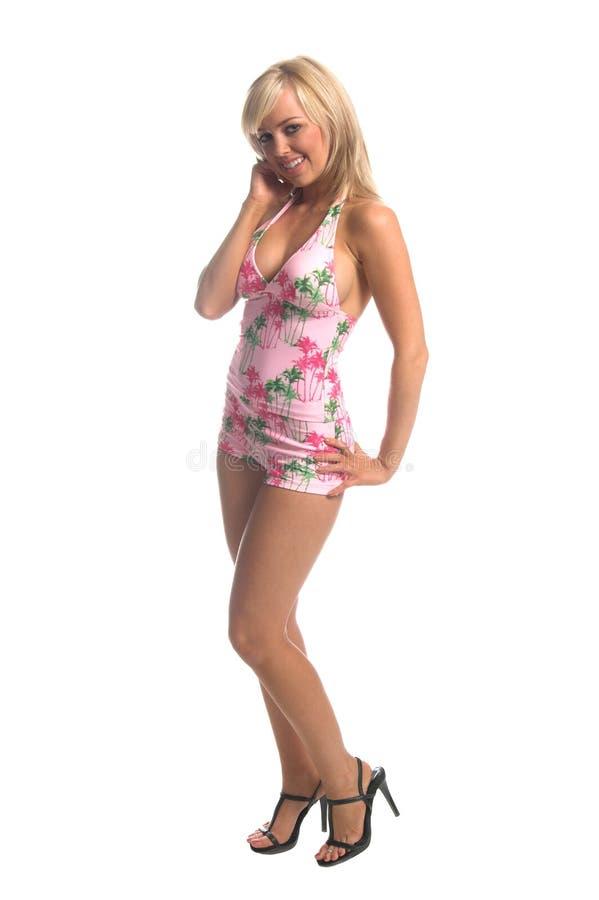 Blonde de Tankini d'île photo libre de droits