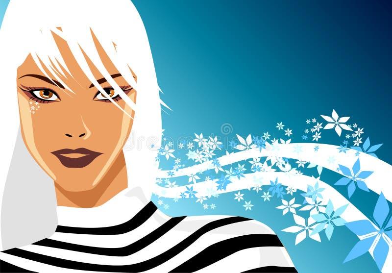 Blonde di inverno royalty illustrazione gratis
