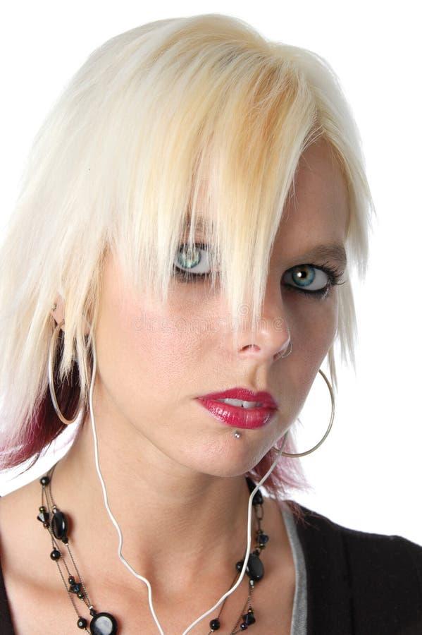 Blonde dichte omhooggaand royalty-vrije stock afbeelding