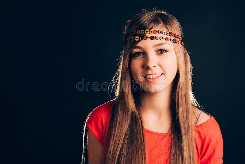 Download Blonde Die Hoofdband Dragen Stock Afbeelding - Afbeelding bestaande uit haar, glimlach: 54079373