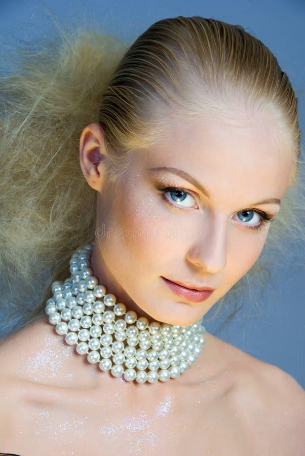 Blonde dorato immagine stock