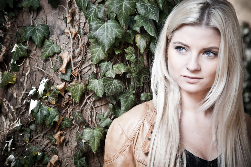 Download Blonde with a dreamy Look stock image. Image of hair - 18956489