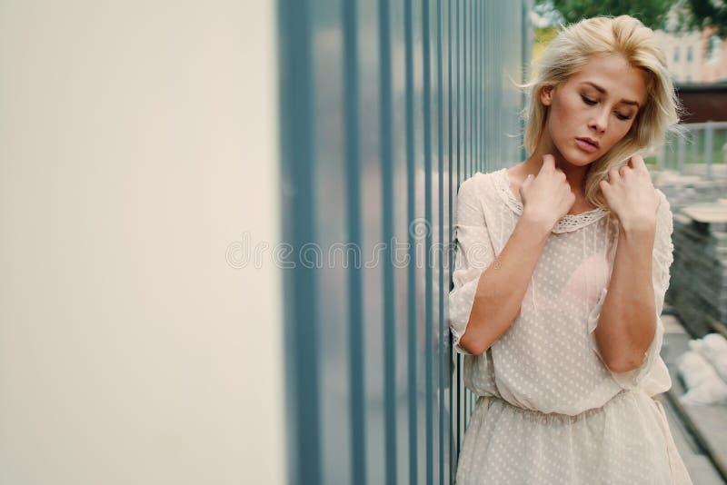 Download Blonde Elegante De La Muchacha Foto de archivo - Imagen de magnífico, belleza: 100534636