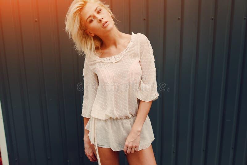 Download Blonde Elegante De La Muchacha Imagen de archivo - Imagen de adulto, hembra: 100534761