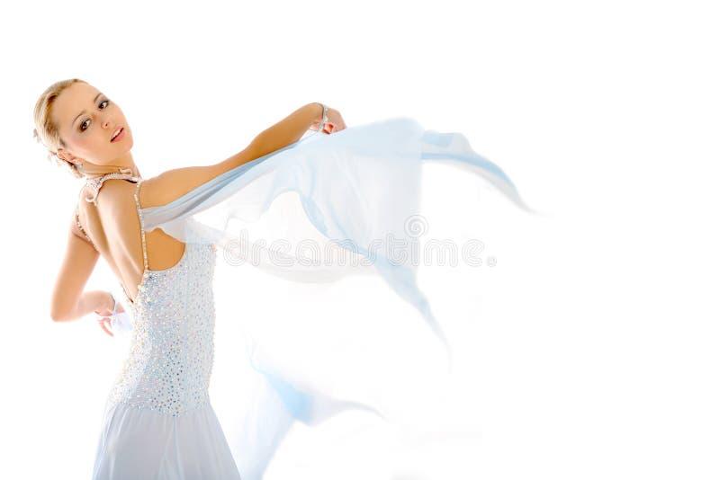 Blonde en danza fotografía de archivo