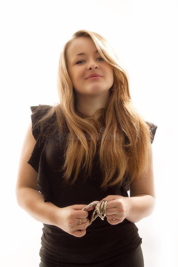 Blonde en el estudio foto de archivo libre de regalías