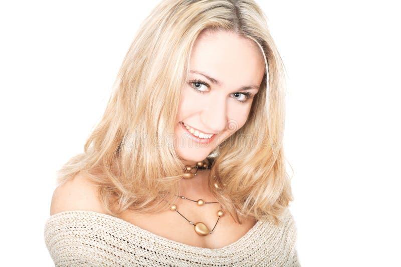 Blonde encantador foto de stock royalty free
