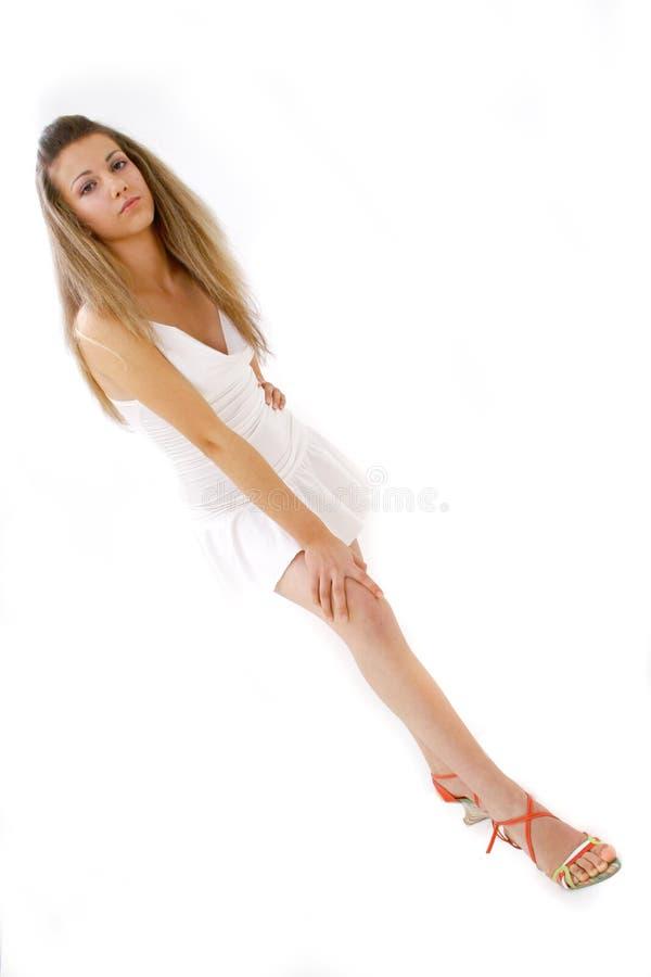 Blonde Ernstige Tiener royalty-vrije stock afbeeldingen