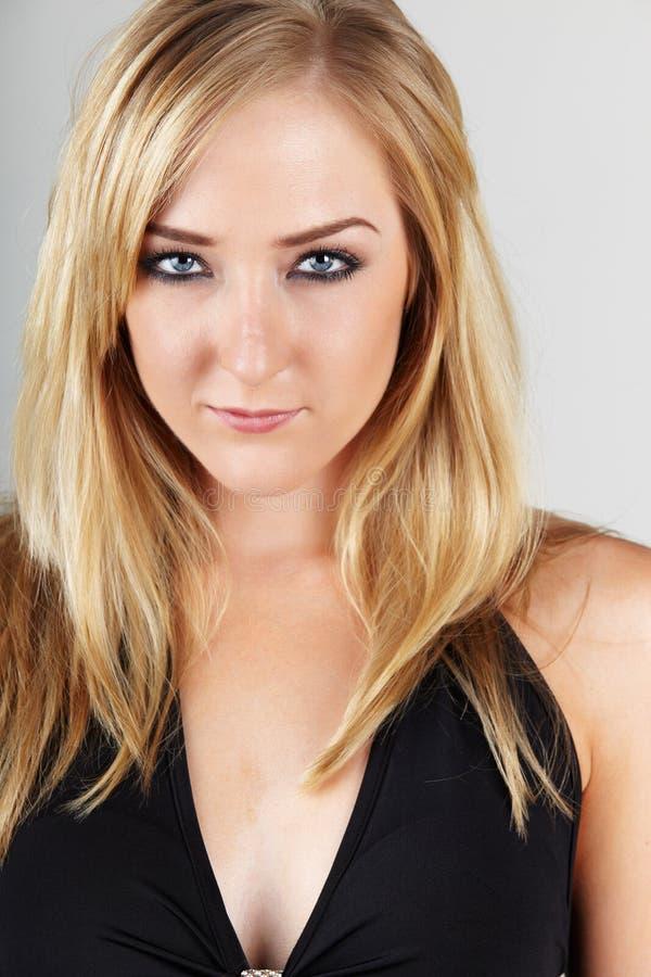 Blonde erwachsene Frau stockbilder