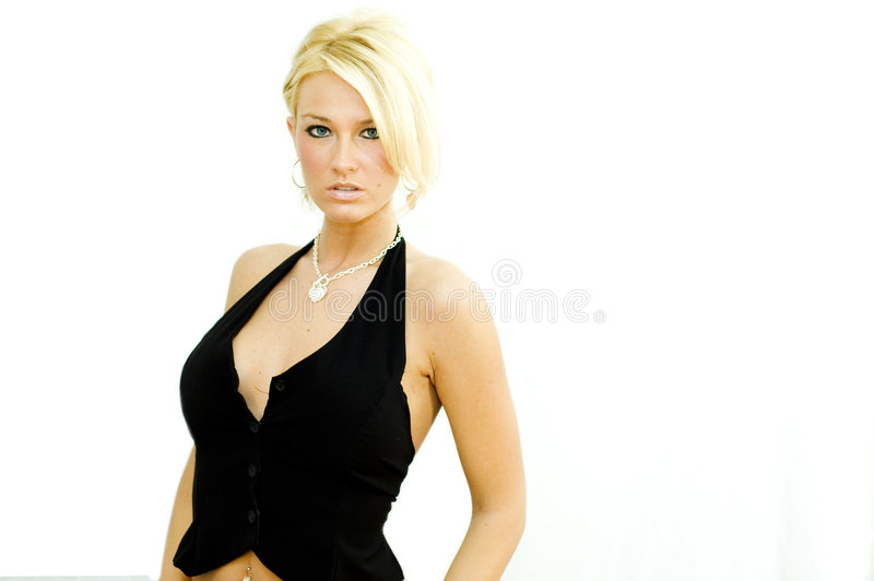 Blonde Fashion Model Stock Images