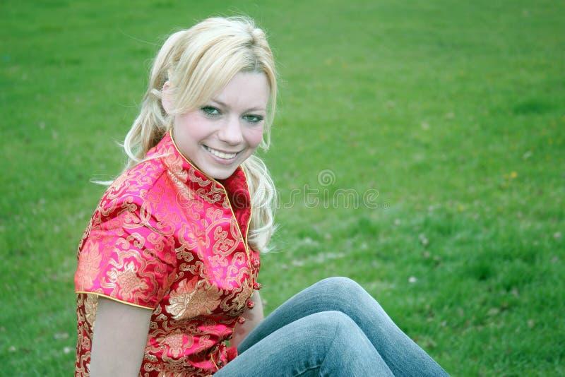 Blonde felice immagine stock libera da diritti