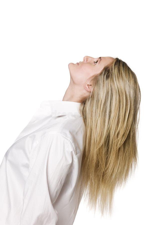 Download Blonde Frau stockbild. Bild von mädchen, frau, blond, seite - 9098379