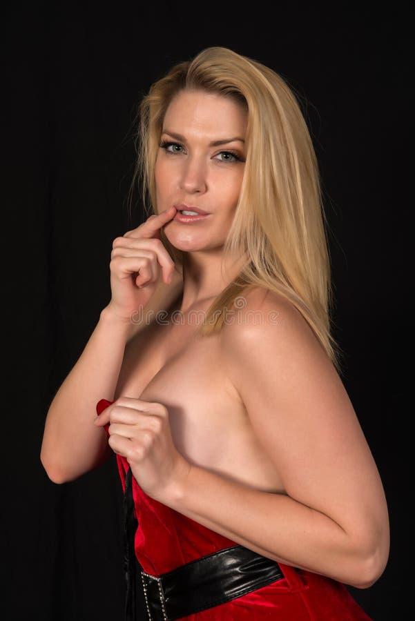 Blonde Frau klaus lizenzfreie stockfotos