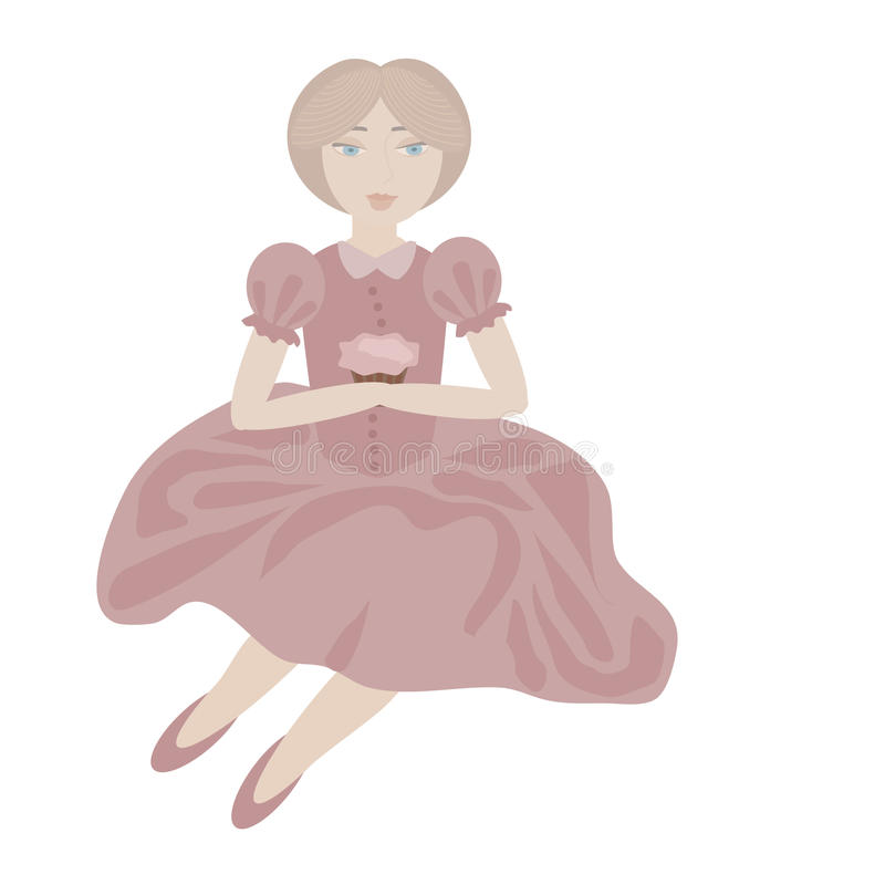 Download Blonde girl stock vector. Image of woman, vector, sitting - 27436380