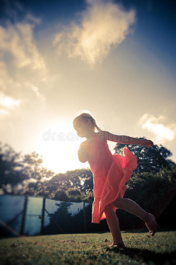 Blonde Girl Carefree Outdoors Stock Image