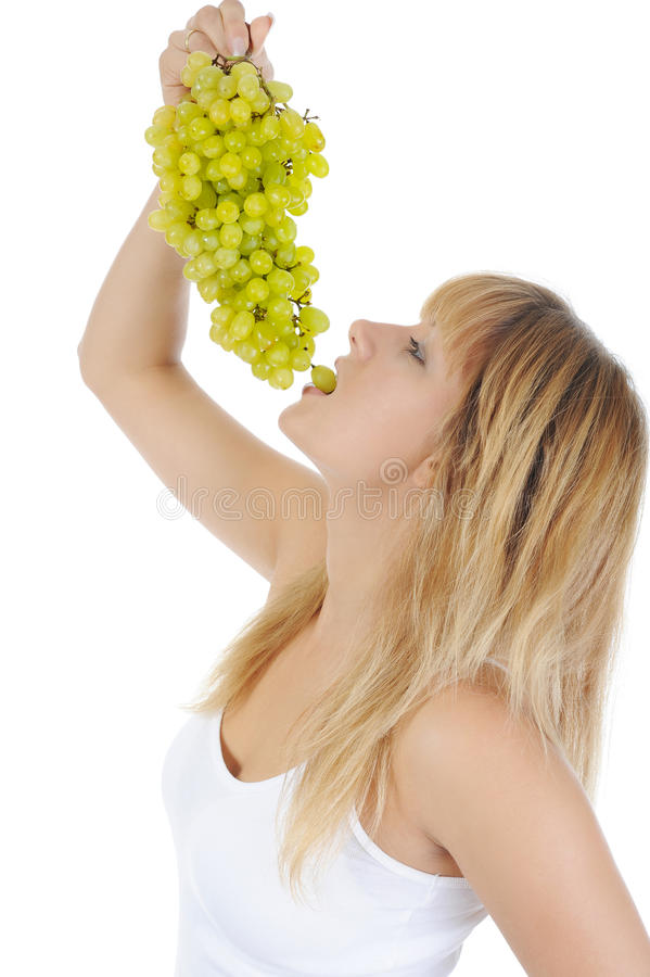 Free Blonde Girl Eating Grapes Stock Images - 15963704