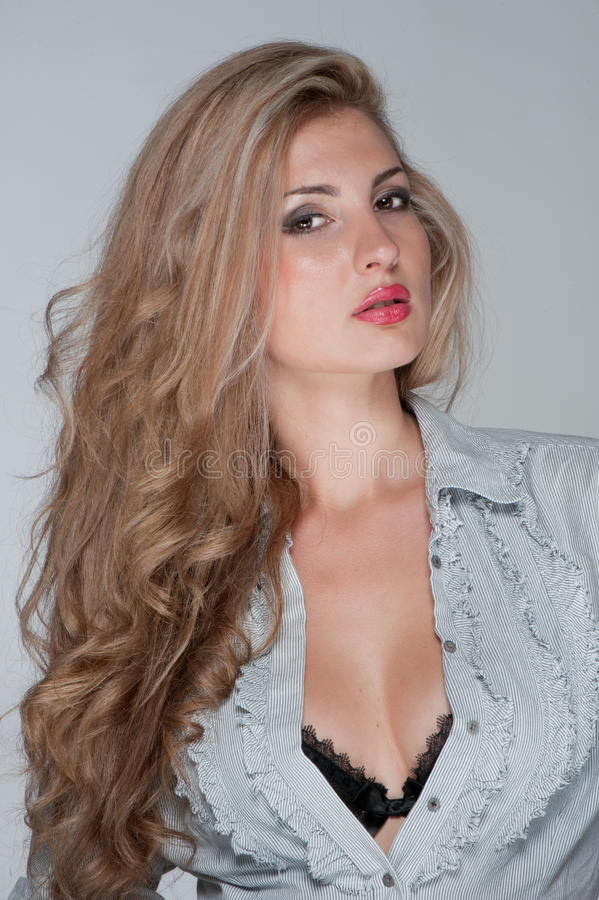 Download Blonde girl in fashion stock image. Image of blonde, elegance - 22046863