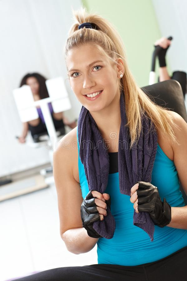 Download Blonde girl at the gym stock photo. Image of lifestyle - 26387114