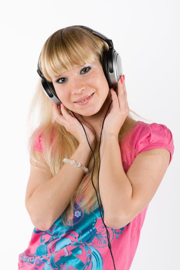 Download Blonde Girl With Headphones Stock Photo - Image: 13527550