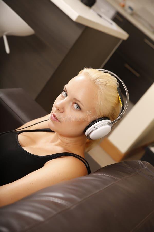 Download Blonde Girl With Headphones Stock Photo - Image: 32312482