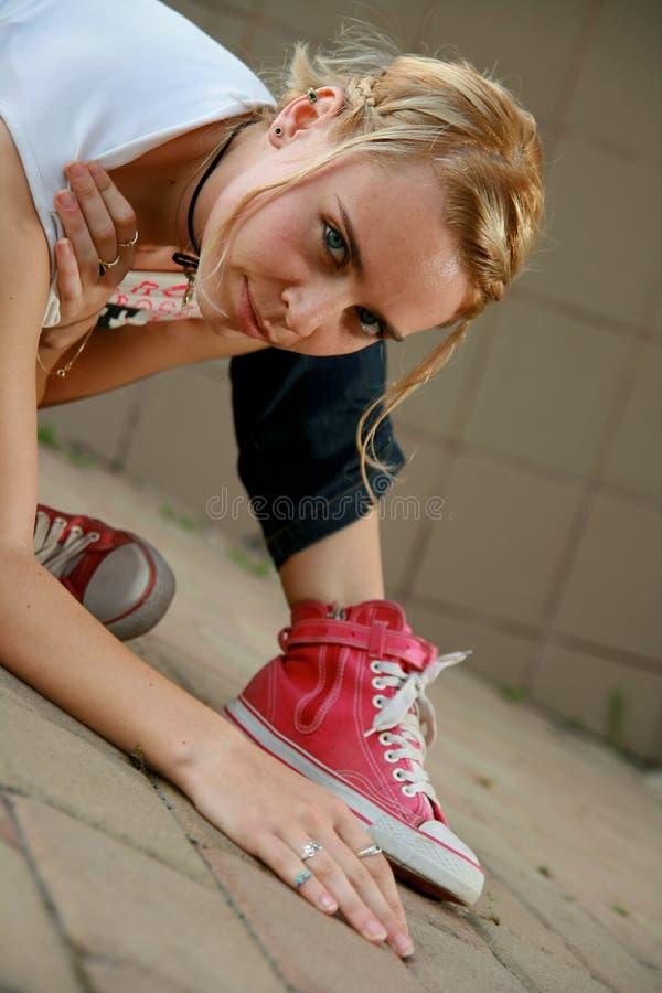 Download Blonde Girl Looking At Camera Stock Image - Image: 7117129