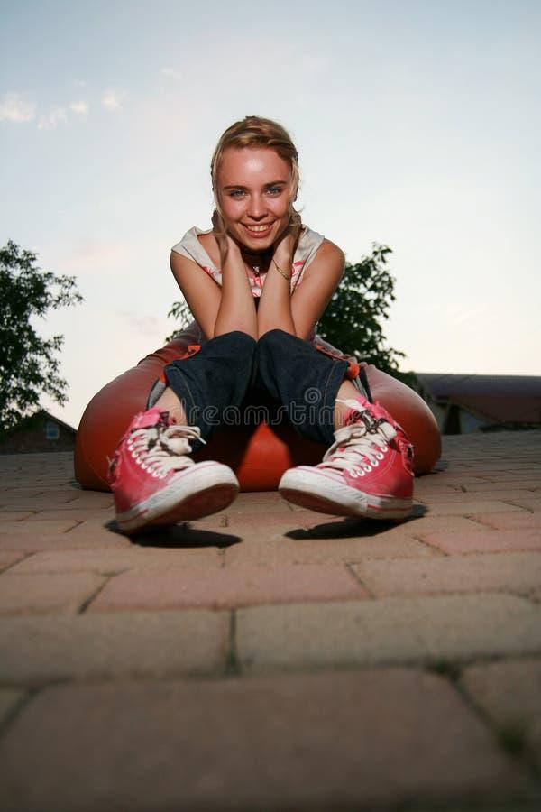 Download Blonde Girl Looking At Camera Stock Photo - Image: 7117162