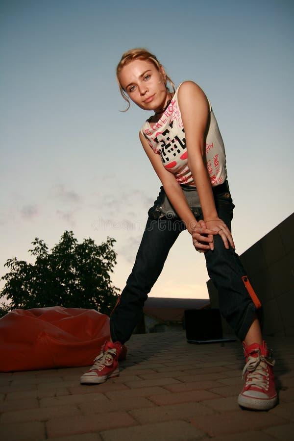 Download Blonde Girl Looking At Camera Stock Photo - Image: 7117368