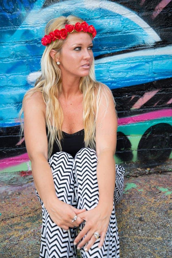 Blonde girl woman royalty free stock photos
