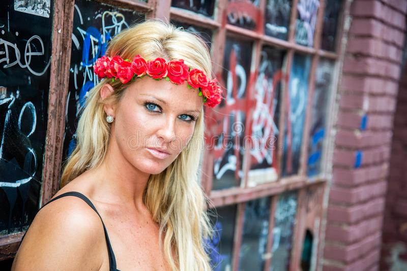 Blonde girl woman royalty free stock images