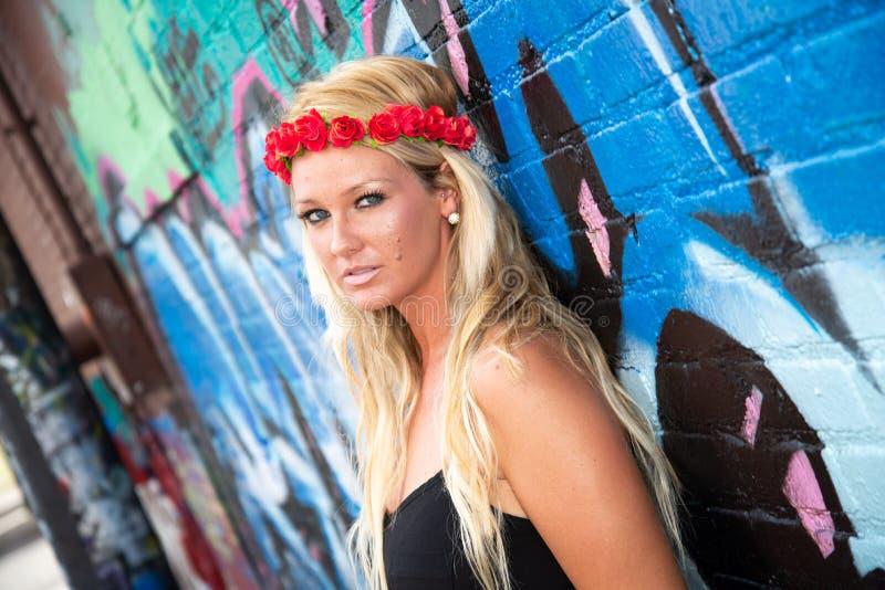 Blonde girl woman royalty free stock photo