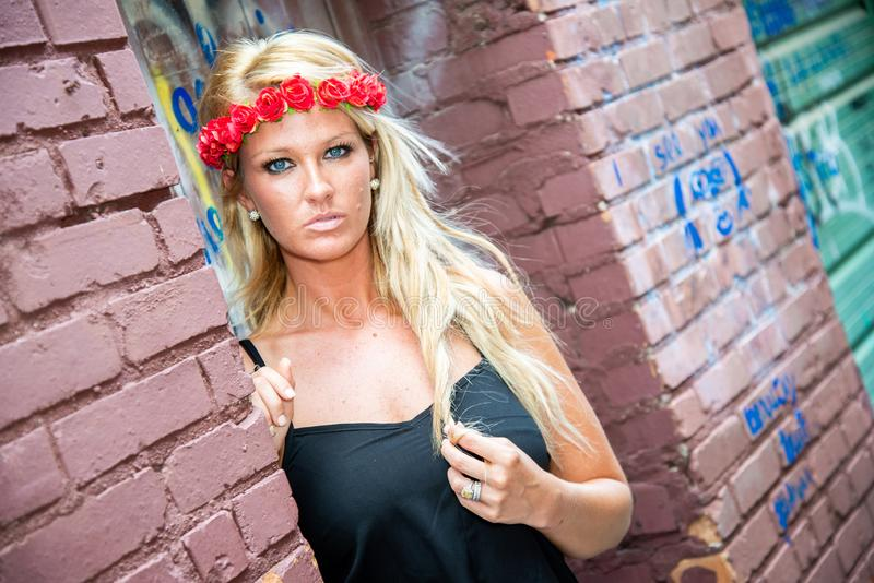 Blonde girl woman stock photography