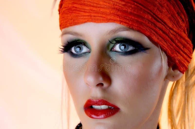 Blonde gypsy girl stock photography