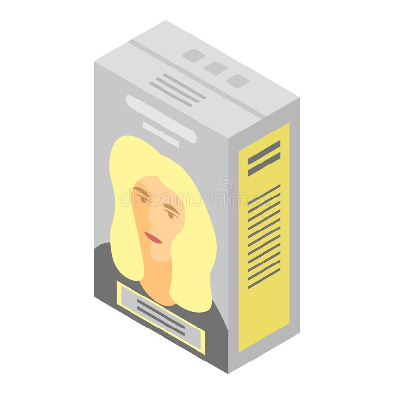 Blonde hair dye icon, isometric style. Blonde hair dye icon. Isometric of blonde hair dye vector icon for web design isolated on white background vector illustration