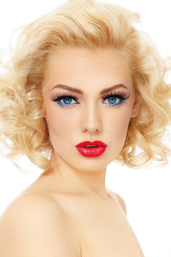 Blonde hermoso imagen de archivo