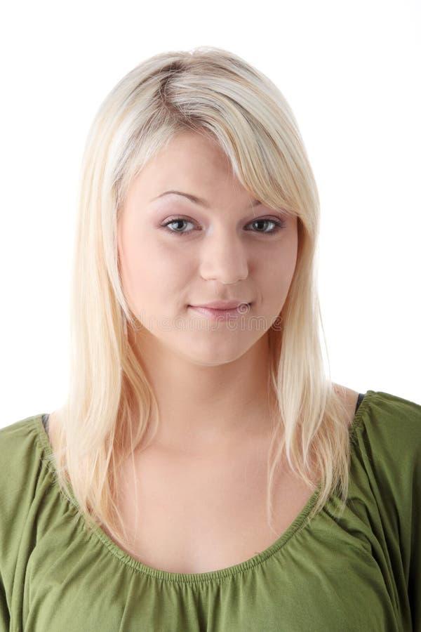 Blonde joven ocasional imagen de archivo