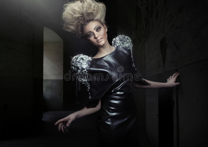 Download Blonde Lady With Marvelous Haircut Royalty Free Stock Photos - Image: 28861528