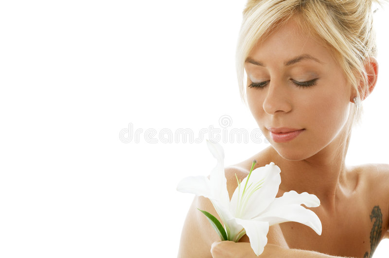 Blonde lelie royalty-vrije stock afbeelding