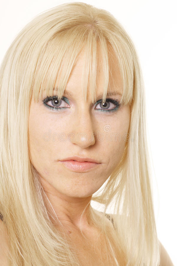 Download Blonde looking ahead stock photo. Image of neck, isolated - 11625862