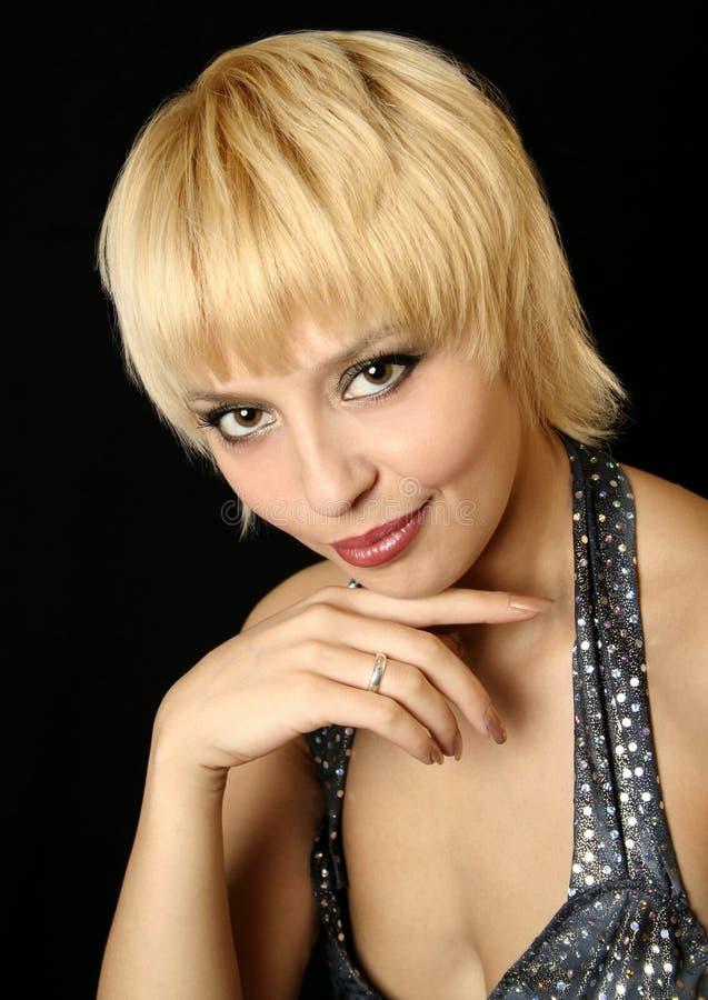 Blonde meisje van de glimlach royalty-vrije stock foto's