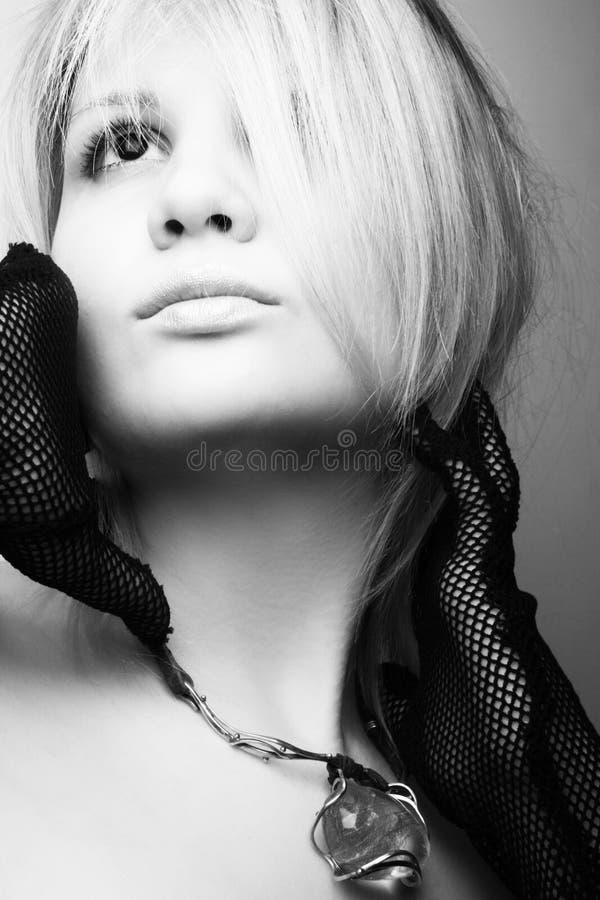 Blonde model posing stock photos